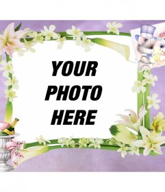 Wedding photo frame where you can add your free online image
