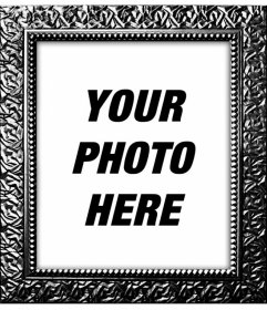 Digital photo frame with real black plated textured to decorate your photos online