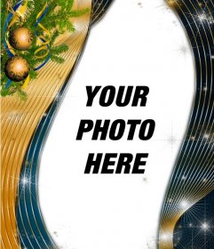 Vertical Christmas template to put your photo