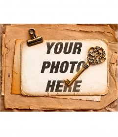 Vintage frame to fit your pictures as old style looks