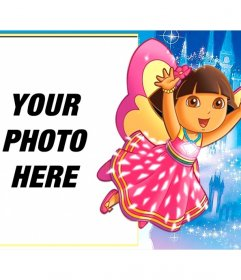 Children frame to put your picture with Dora the Explorer