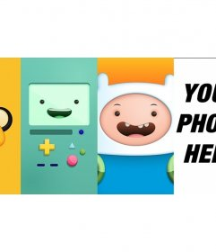 Adventure Time photo frame for you to pose with the coolest characters in the series