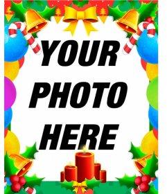 Colorful Christmas photo frame