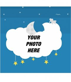 Photo frame on a cloud