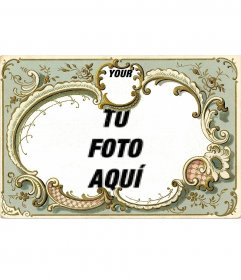 Vintage frame for two photos