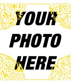 Add a gold frame of tribal style on your photos for free