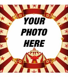 Frame your photo with a circus tent online
