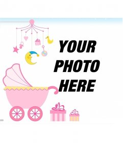 Photo frame for a baby girl