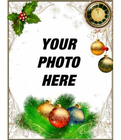 Frame to decorate your photos Christmas and New Year