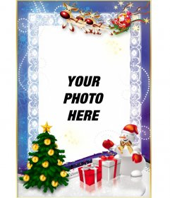 Free Christmas template to personalize with your photo online