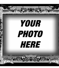 Frame in black and white with Victorian style for your photos