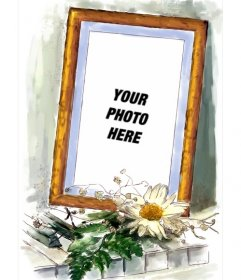 Frame your photos where you can put your picture in a frame adorned with a daisy. To make online