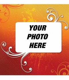Orange picture frame. Adorn your photo with this decoration and you can save or e-mail from the same page