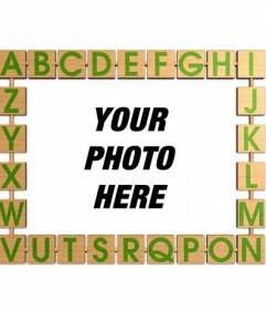 Photo frame with an alphabet for children