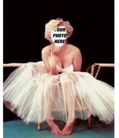 Become in Marilyn Monroe with this photomontage to add your face