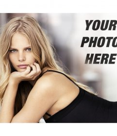 Photomontage with Marloes Horst to put your picture next to it