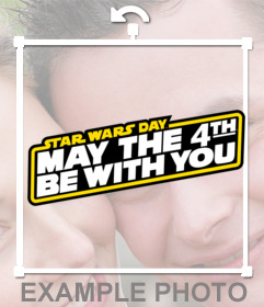 MAY THE FORCE BE WITH YOU sticker with this effect