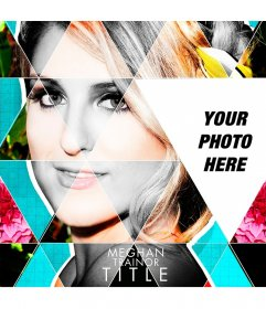 Photomontage with the CD cover of Meghan Trainor