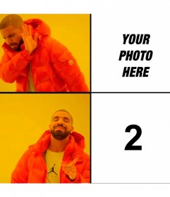 Photomontage of the Drake Hotline Bling meme with two photos