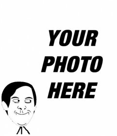 Photo effect to put the Meme of Toby Maguire Funny Face in Spiderman in your photo