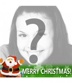 Special Facebook Christmas card to put in your profile with Santa Claus and the phrase Merry Christmas