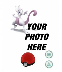 Photo effect with Mewtwo in Pokemon Go game to add your photo