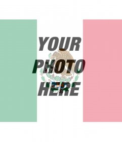 Photo montage of the Mexican flag to put in your photo