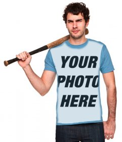 """Put your image in this boy""""s blue shirt"""