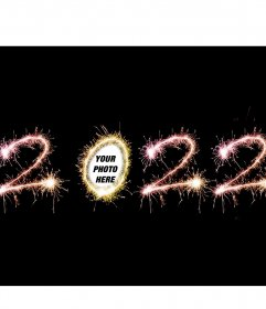 Effect to put your photo in the year 2020 zero of fireworks