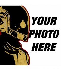 Photomontage Illustration freaturing Daft Punk