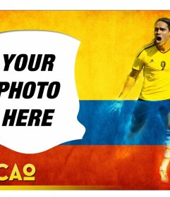 Photo Montage with Radamel Falcao, the Colombian soccer player