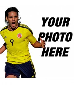 Photomontage with Falcao of Colombia selection