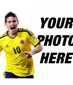 Photomontage with James Rodriguez of Colombia