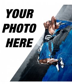 Photomontage with Dwight Howard, professional basketball player