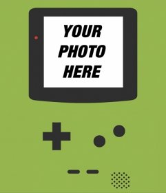 Background of a Game Boy for your photos on its screen