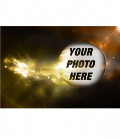 Special photomontage with the planet Jupiter