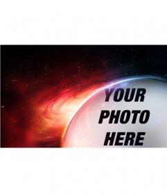 Photomontage planet Mars