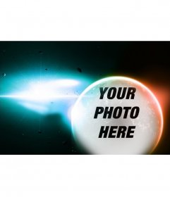 Special collage to put your photo on a planet