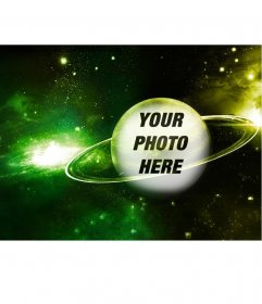Special photomontage to put your photo on a planet