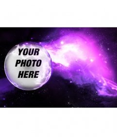 Photomontage to put your photo on a planet