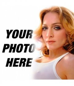 You want to put a picture of you next to Madonna, now you can with this photomontage