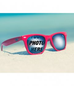 Photomontage with your picture on Rayban glasses