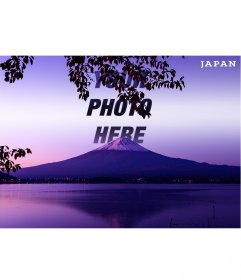 Postcard of Mount Fuji in Japan with your photo