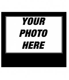 Online creator of motivational text black photo frame
