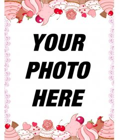 Cupcake photo frame for your pictures