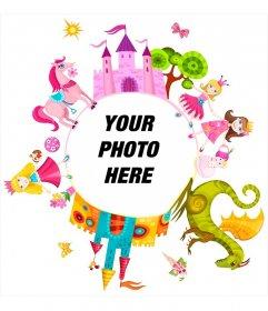 Child photomontahe with princesses