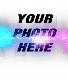 Add your photos a special photo effect with lasers and fluorescent colors