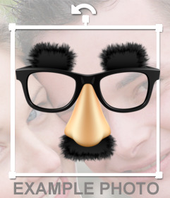 Sticker with mustache glasses and eyebrows of Groucho Marx, the great comedian you can insert into your  photos