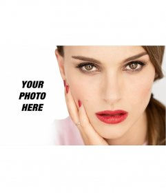 Photomontage to pose with actress Natalie Portman
