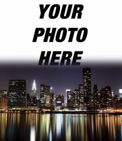 Postcard of New York where you can put your photo at background